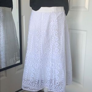 ⬇️REDUCED! Madewell geo lace eyelet white skirt